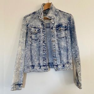 Mossimo Supply Co. Distressed Crop Jean Jacket